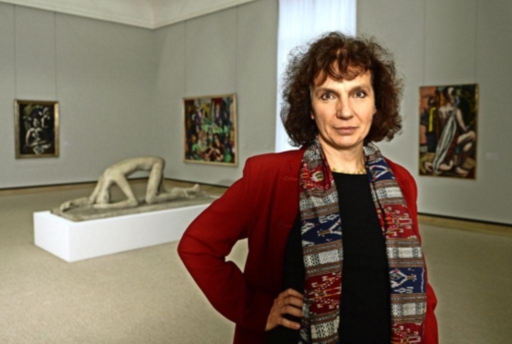 Christiane Lange in den Ausstellungsräumen der Stuttgarter Staatsgalerie – ihrer Meinung nach gibt es zu viele Museen.  Foto:dpa Foto: