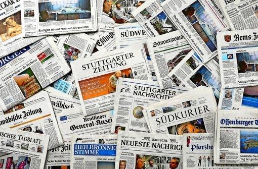 Zeitungsredakteure im Südwesten legen Arbeit nieder