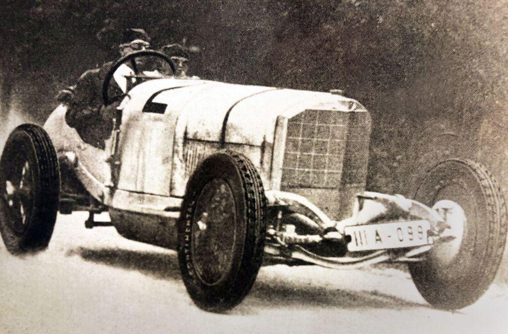 Adolf Rosenberger nutzte seinen Ruhmals Rennfahrer für die Firma. Foto: SWR/Eberhard Reuß