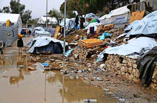Unruhen im Flüchtlingslager Moria