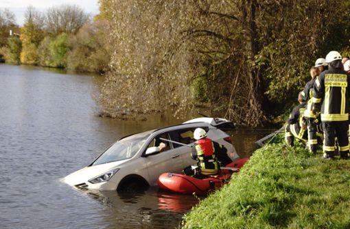 Neue Erkenntnisse zum im Neckar versenkten Auto