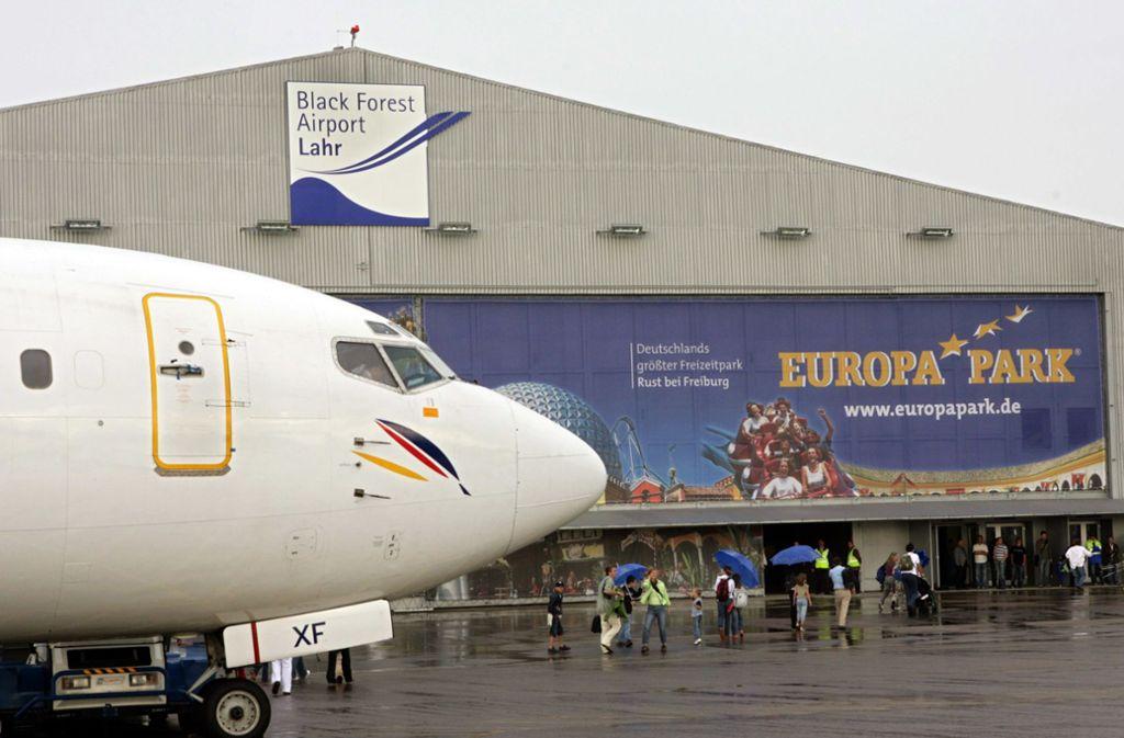In der Regel wenig Verkehr  – doch manche Gäste  des Europaparks nutzen den Airport. Foto: dpa