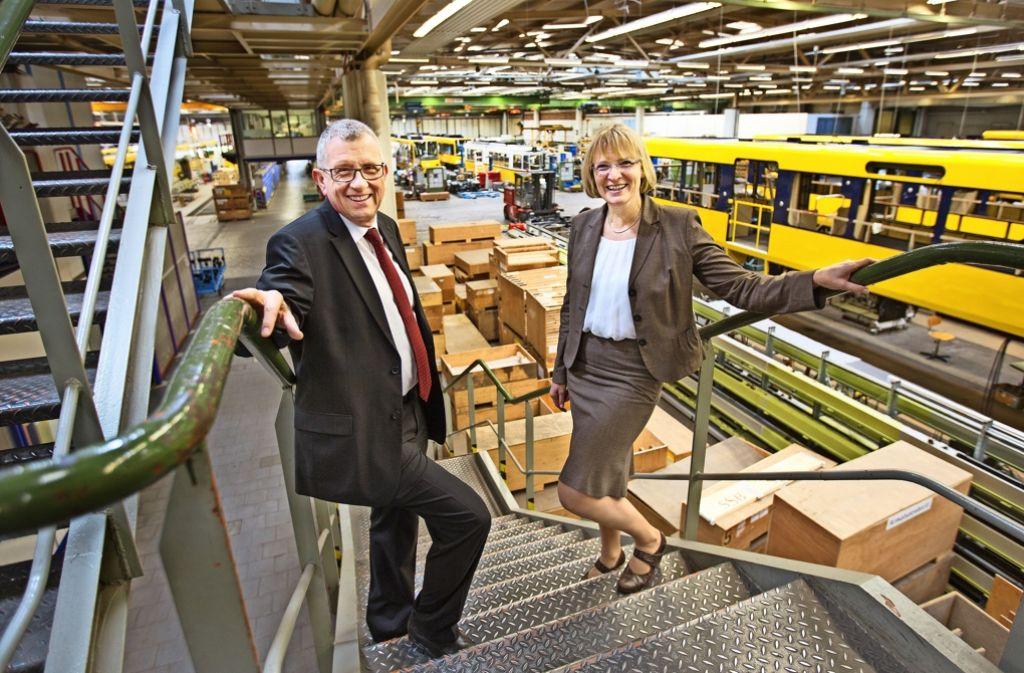 Der SSB-Vorstand ist  die Ausnahme von der Regel: Wolfgang Arnold (links) mit einer seiner Kolleginnen, Stefanie Haaks. Foto: Ines Rudel