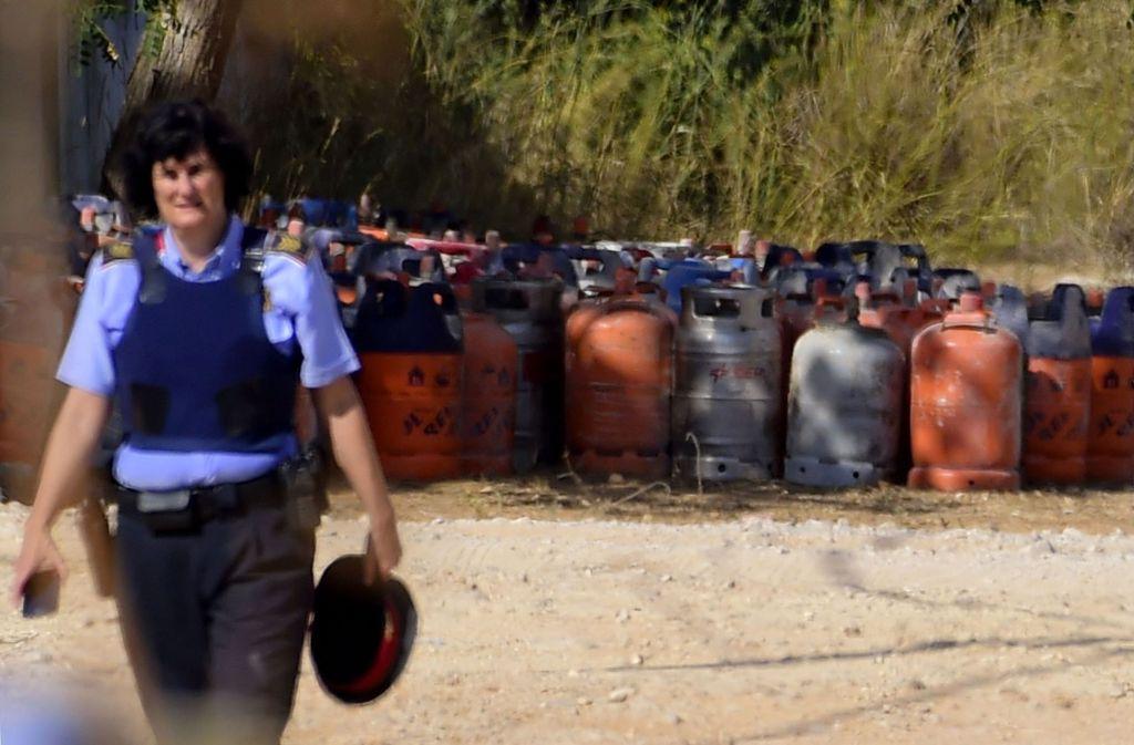 Insgesamt 120 Gasflaschen sollten bei Terroranschlägen zum Einsatz kommen. Foto: AFP
