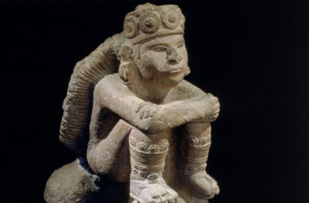 """Der """"Sonnengott"""" ist derzeit in der Stuttgarter Azteken-Schau zu sehen. Foto: Linden-Museum"""