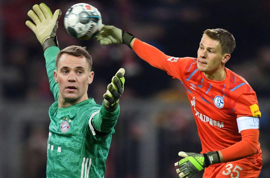 Manuel Neuer (li.) bleibt beim FC Bayern, Alexander Nübel kommt vom FC Schalke 04 nach München. Foto: imago/Sven Simon/Frank Hoermann
