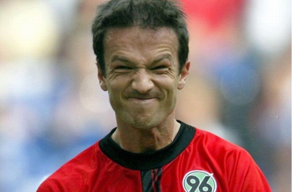 Fredi Bobic hatte in Hannover oft gute Laune. Foto: dpa