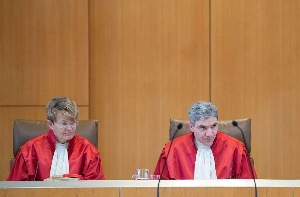 Der Erste Senat unter Vorsitz von Stephan Harbarth, dem neuen Präsidenten des Bundesverfassungsgerichts, schützt die Foto: dpa/Sebastian Gollnow