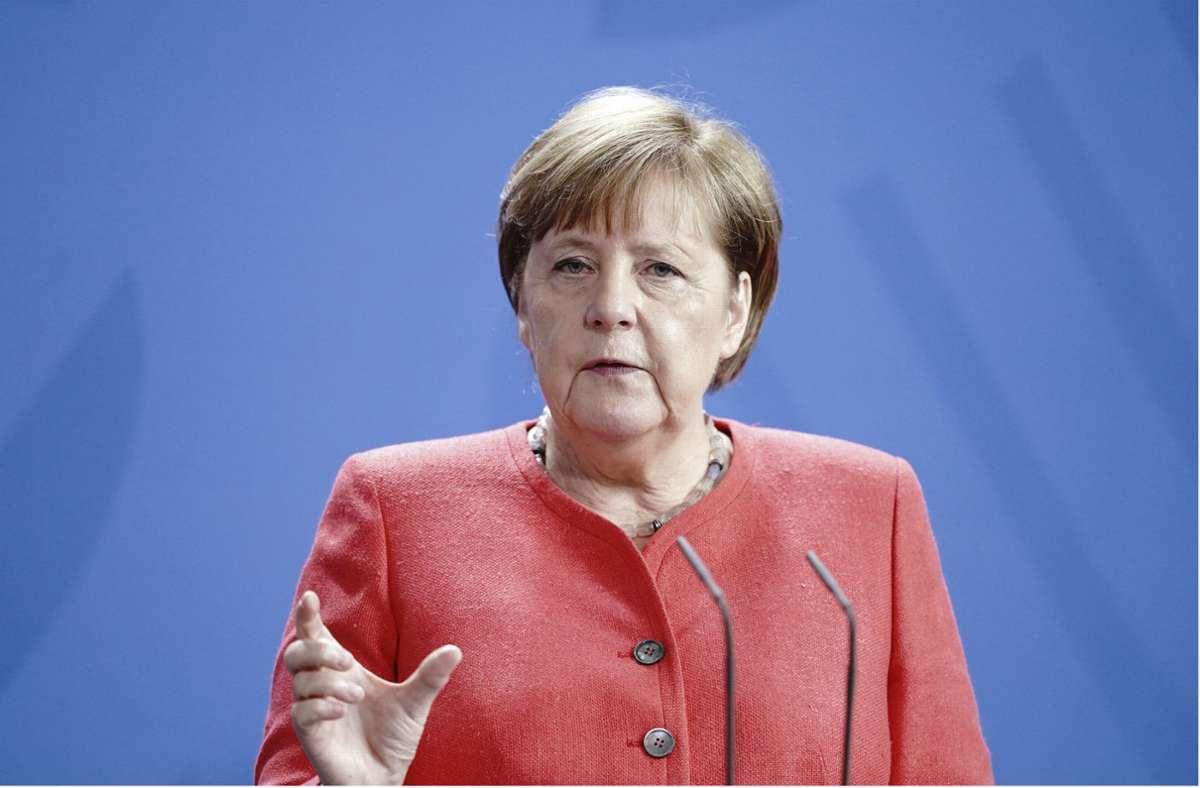 """""""Je mehr mitmachen, desto größer ist dieser Nutzen"""", sagte Kanzlerin Angela Merkel zur Corona-App. Foto: AP/Kay Nietfeld"""