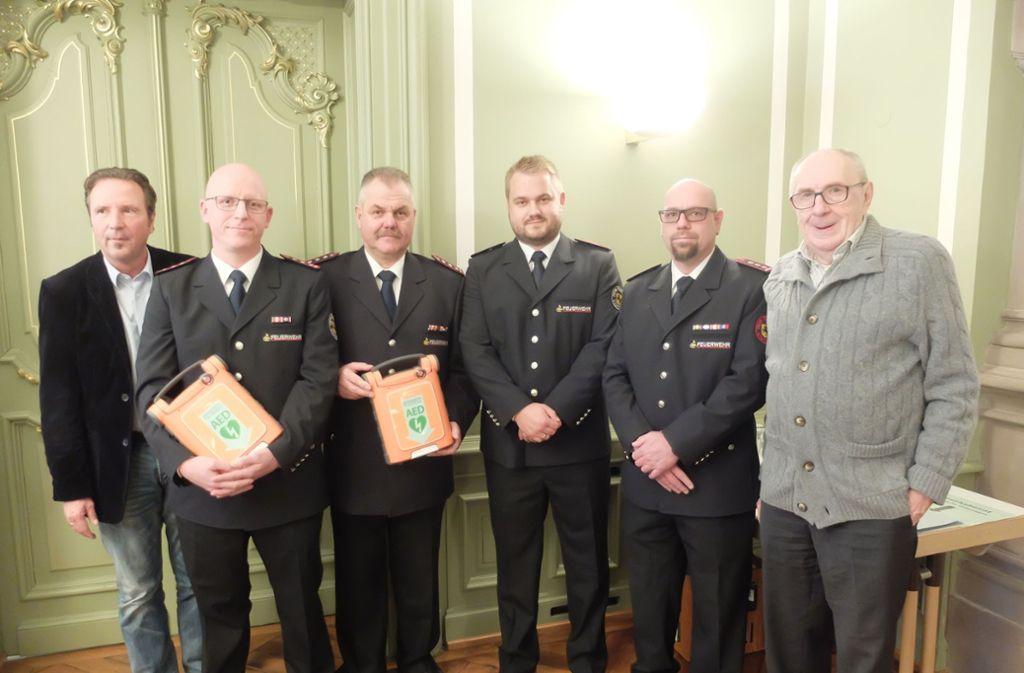 Ralf Bohlmann, Matthias Köngeter, Ulrich Klopfer, Michael Klopfer, Christian Malek und Johannes Schlichter (von links). Foto: Iris Frey