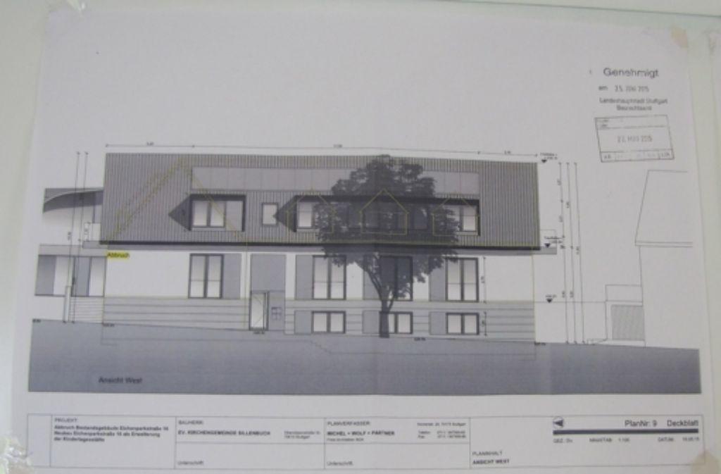 Dieses von den Architekten Michel, Wolf und Partner geplante Gebäude soll den Altbau an der Eichenparkstraße 16 ersetzen. Foto: Eveline Blohmer