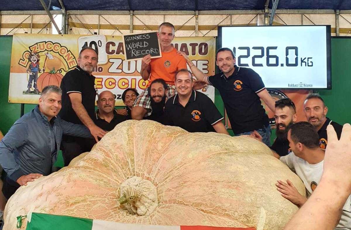 Mamma mia! Der Mega-Kürbis aus der Toskana ist jetzt im Blüba zu sehen. Foto: Blühendes Barock