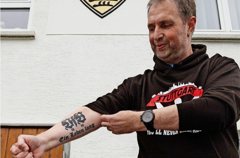Gerd Eckhardts Liebe zum VfB geht unter die Haut. Foto: factum/Bach
