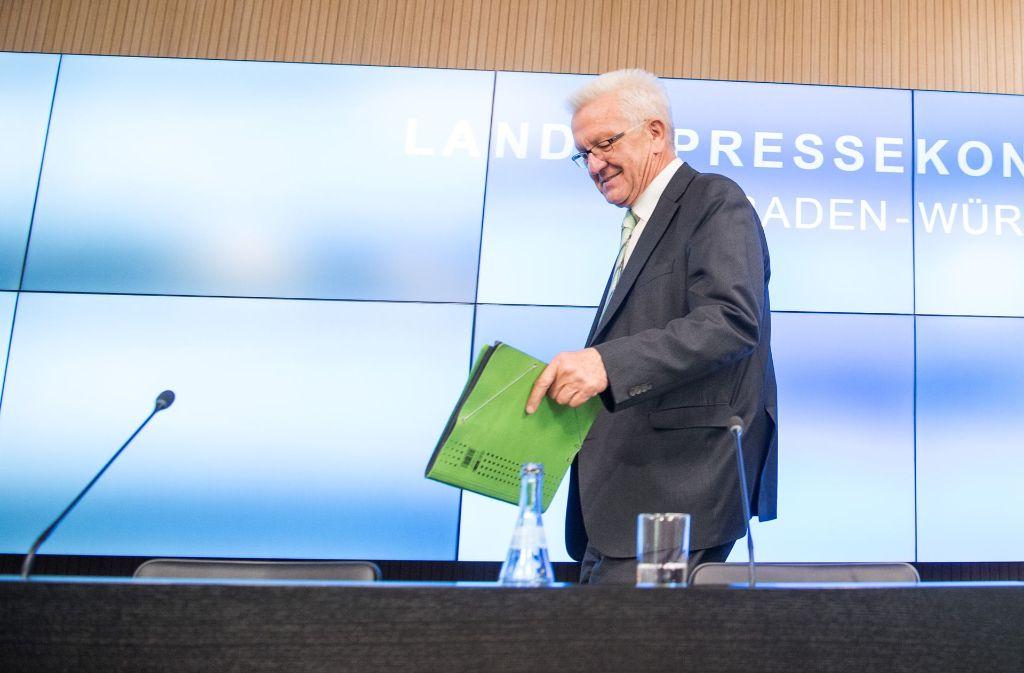 """Ministerpräsident Winfried Kretschmann kann aus den Vollen schöpfen: """"Wir hatten noch nie so hohe Steuereinnahmen"""". Foto: dpa"""