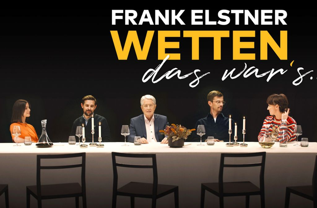 Frank Elstner (Mitte) und seine Gäste (v. l.)  Lena Meyer-Landrut, Klaas Heufer-Umlauf,  Joko Winterscheidt und Charlotte Roche. Foto: Netflix