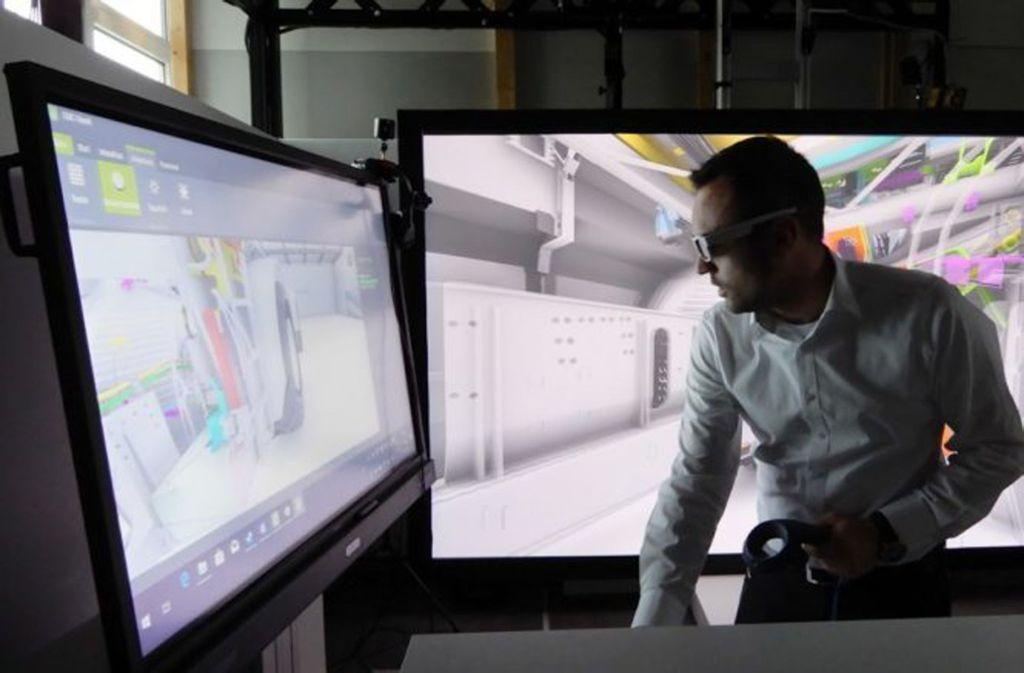 Das Startup CMC Kiesel GmbH bietet erweiterte Visualisierungsmöglichkeiten mithilfe von Virtueller Realität. Foto: CMC Kiesel