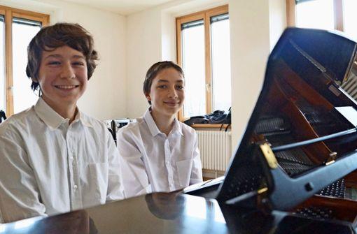 Am Klavier können die Nachwuchspianisten den Stress vergessen
