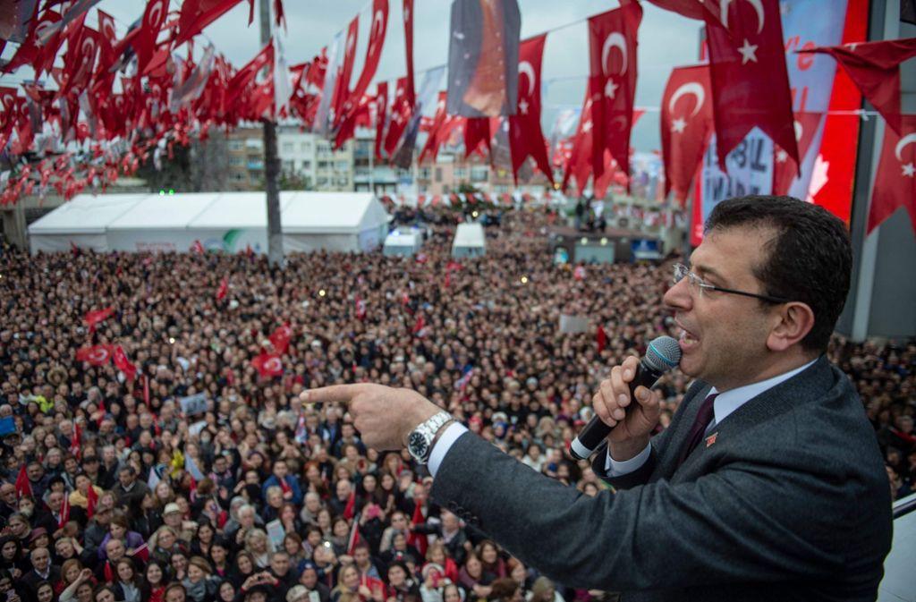 Ekrem Imamoglu hatte die Wahl in Istanbul überraschend gewonnen. Foto: AFP