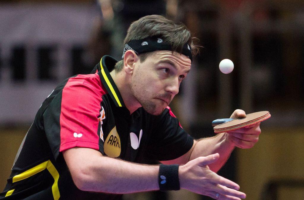 Tischtennis-Spieler Timo Boll ist Linkshänder und hat dadurch laut einer Studie einen Vorteil in seiner schnellen Ballsportart. Foto: dpa