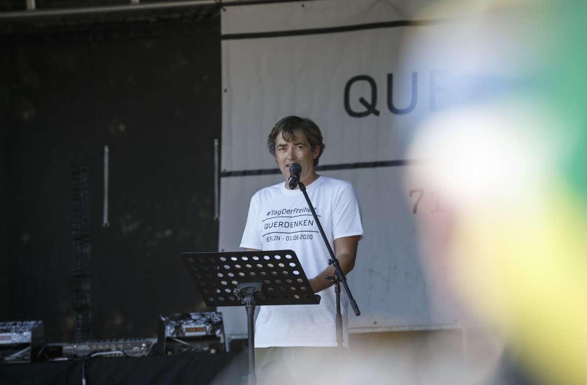 """Michael Ballweg ist der Gründer der Protestbewegung """"Querdenken 711"""". (Archivbild) Foto: Lichtgut/Julian Rettig"""