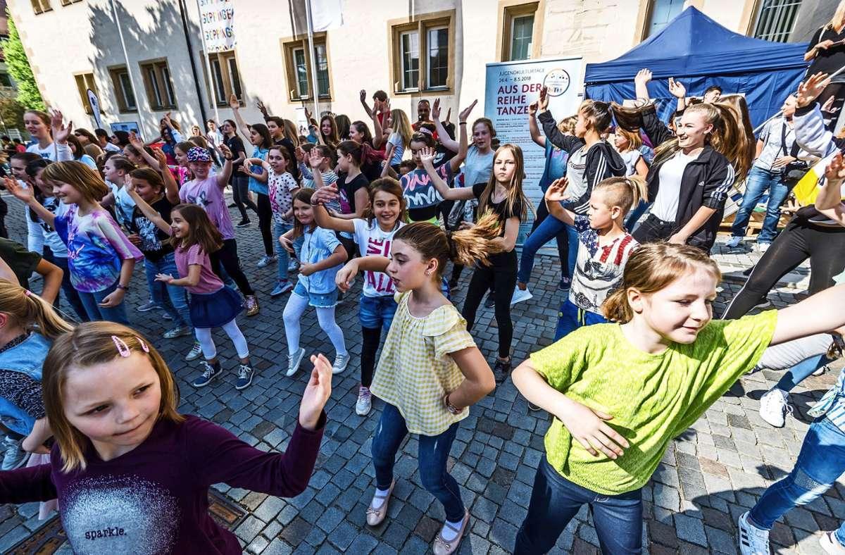 Unter anderem findet bei den Jugendkulturtagen wieder ein Tanzflashmob statt. Foto: Giacinto Carlucci