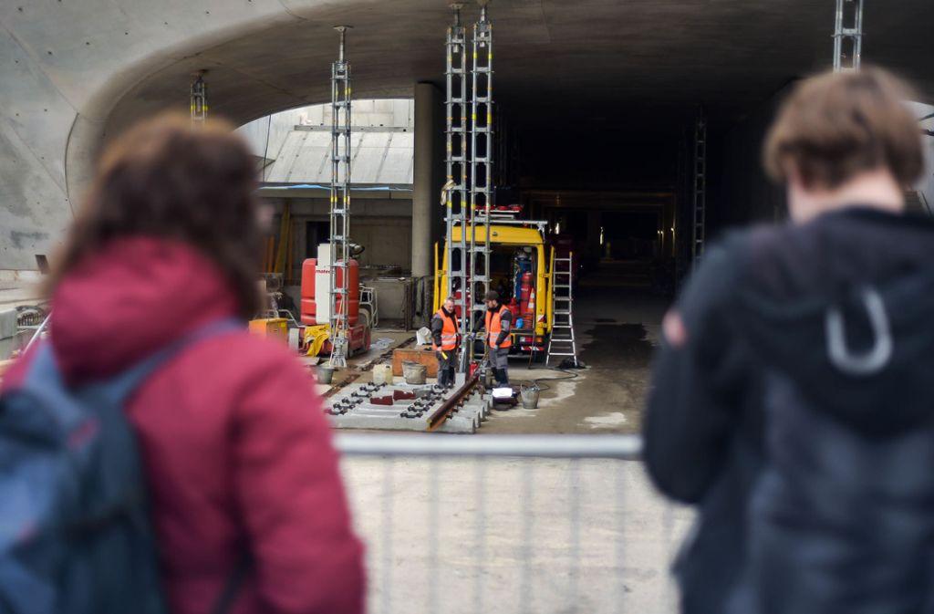 Auch am Samstag und Sonntag, 4. und 5. Januar, können Interessierte die S21-Baustelle besichtigen. Foto: Lichtgut/Max Kovalenko