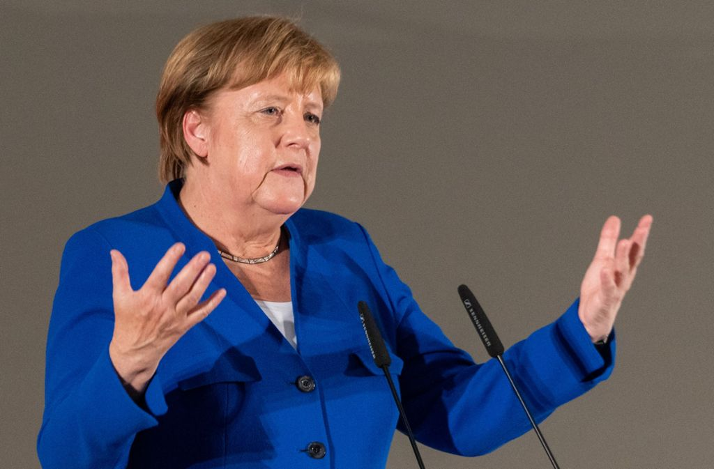 Angela Merkel war am Montag in Sachsen unterwegs. Foto: Robert Michael/dpa-Zentralbild