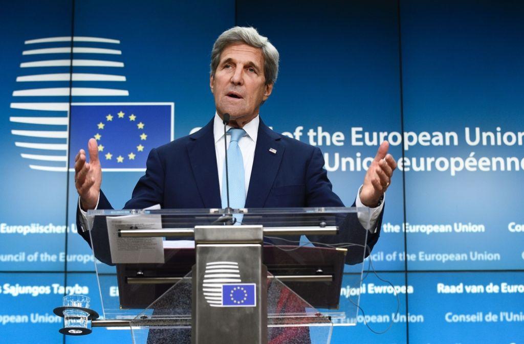 John Kerry beim Treffen der Außenminister in Brüssel. Foto: AFP