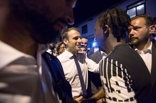Frankreichs Präsident hat Geruch von Cannabis in der Nase