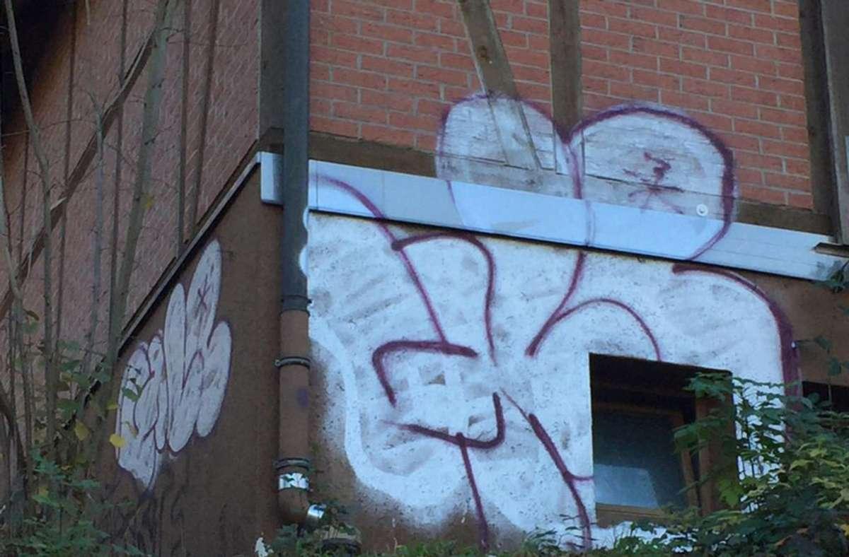 Über Nacht hatten Unbekannte die mühsame Instandsetzung des Häuschens mit Graffiti zunichte gemacht. Foto: privat