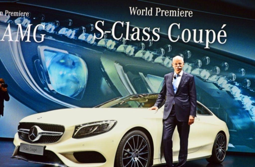 In Genf hat Daimler-Chef Zetsche das neue S-KLasse Coupé vorgestellt. Foto: dpa