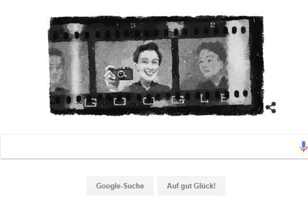 Die Google-Homepage erinnert am Mittwoch an die Fotografin Gerda Taro, die in Stuttgart aufgewachsen ist Foto: Google
