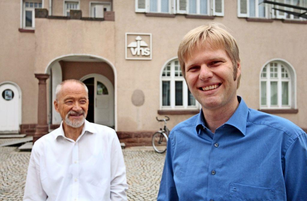 Reinhard Neil (links) geht, Markus Fink leitet bald die Gerlinger VHS. Foto: factum/Granville