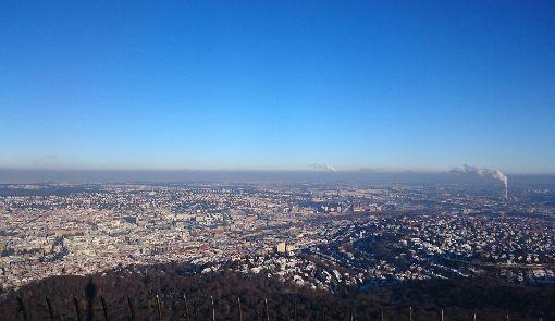 Ordentliche Luft im Stadtbezirk Stuttgart-Nord am Samstag
