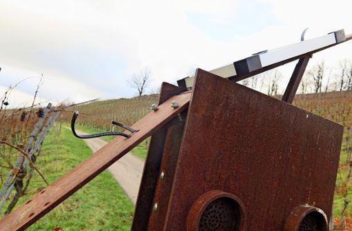 Blinde Zerstörungswut am  Weinweg