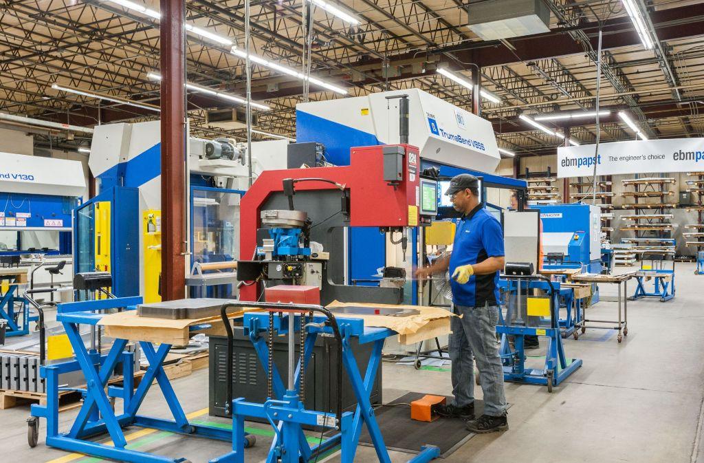 In Farmington im US-Bundesstaat Connecticut beschäftigt der Ventilatorenhersteller Ebm-Papst 300 Mitarbeiter. Das Unternehmen sieht die USA als wichtigen Wachstumsmarkt an Foto: Ebm-Papst