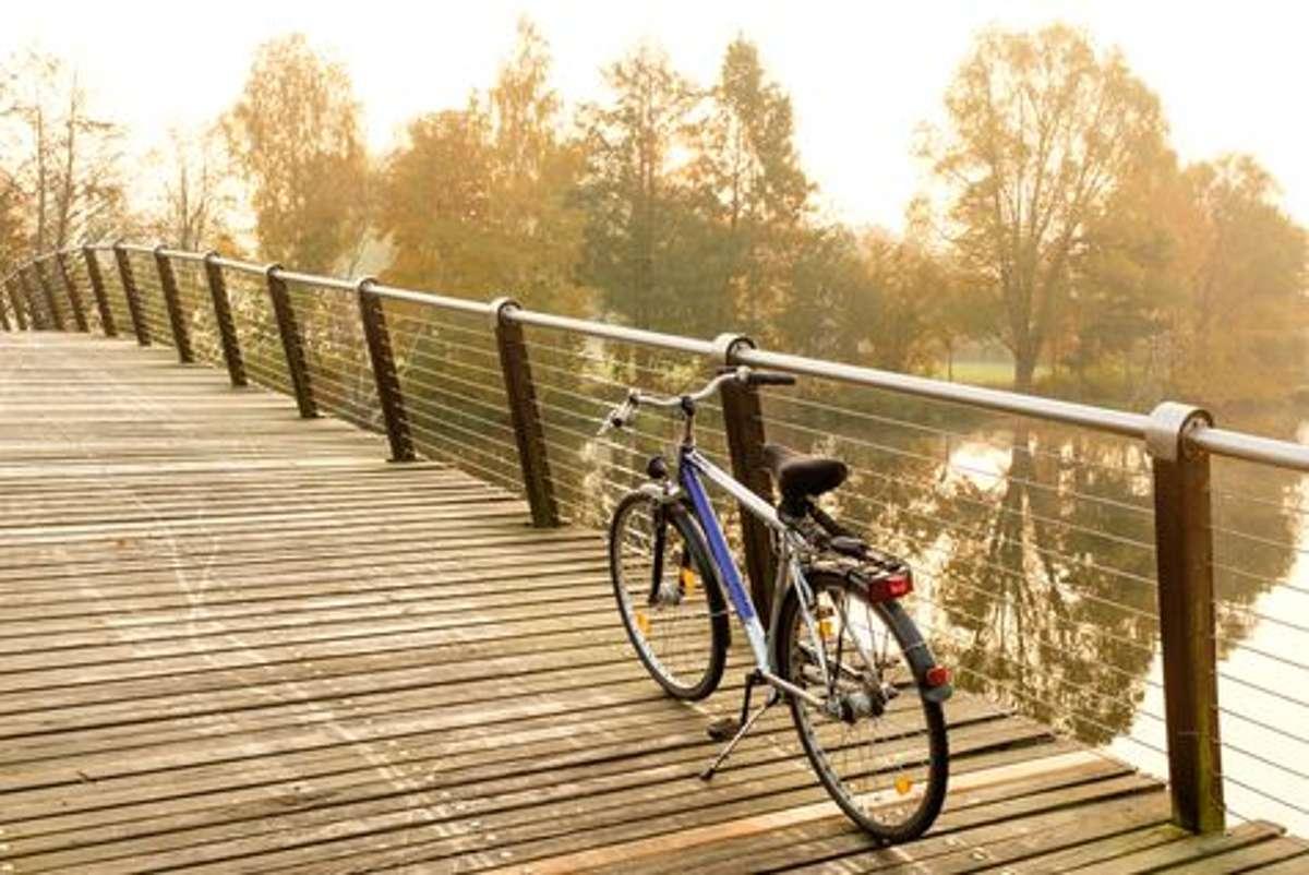 Entdecker auf dem Stahlross erleben Natur und Seen in Brandenburg. Foto: Shutterstock/Gregory A. Pozhvanov