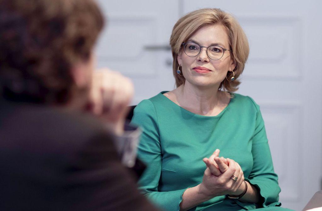 Julia Klöckner im Gespräch mit unserem Berliner Korrespondenten Christopher Ziedler Foto: Moritz