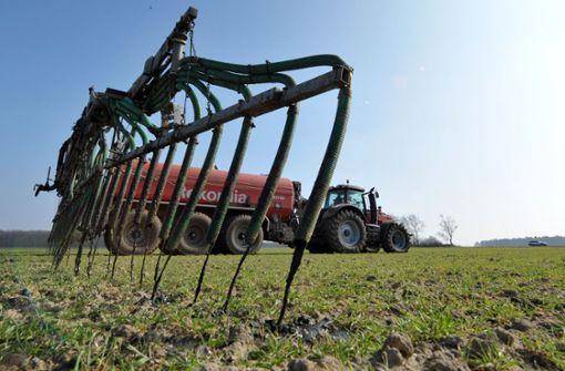 Die Nitratbelastung sinkt nur sehr langsam