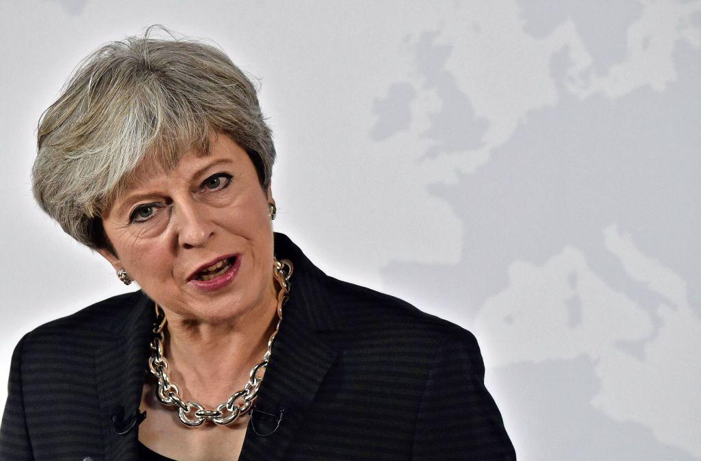 Die britische Premierministerin Theresa May Foto: POOL