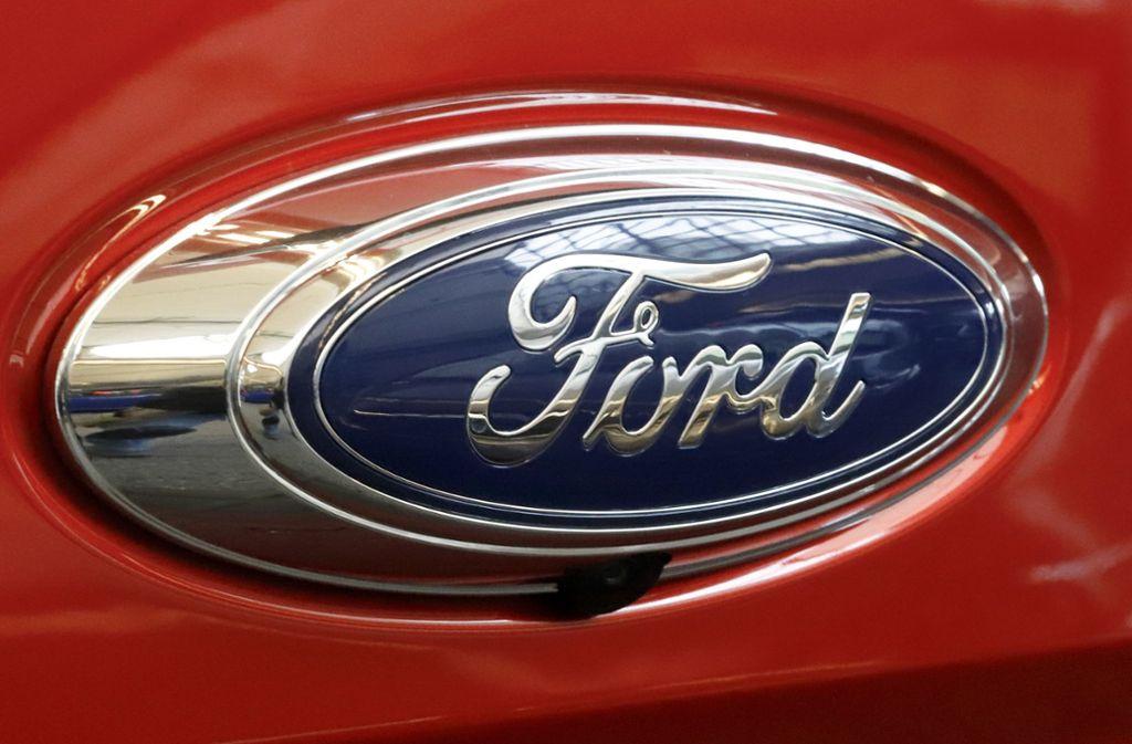 Der Kurs der Ford-Aktie sackte am Donnerstag nach der Mitteilung um mehr als drei Prozent ab. Foto: AP
