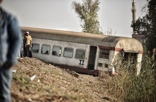 Wieder schweres Zugunglück in Ägypten