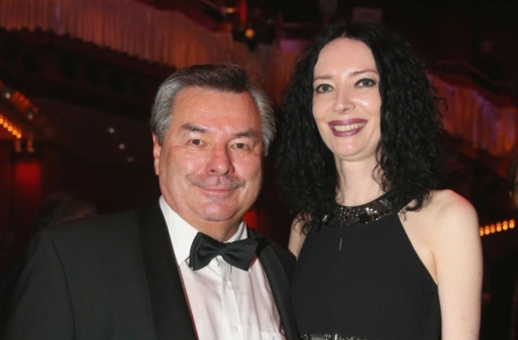 Waldemar Hartmann mit seiner Frau Petra. Foto: Bongarts/Getty Images