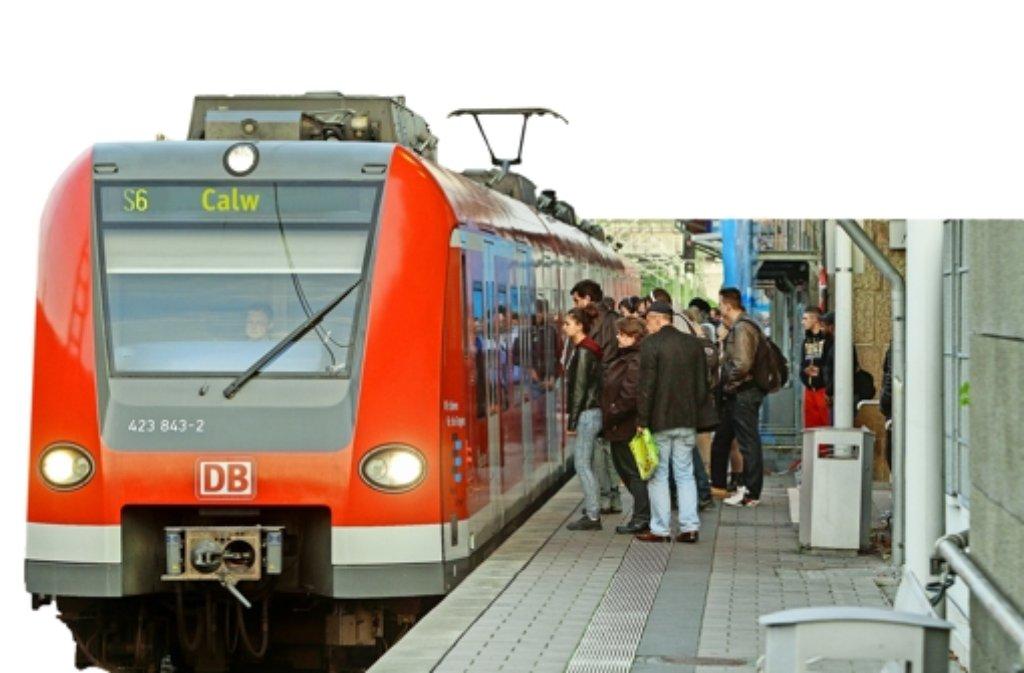 Eine S-Bahn bis Calw? Vielleicht durchaus denkbar ... Foto: factum/Montage: StZ