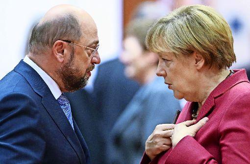 Bewerten Sie live Angela Merkel und Martin Schulz