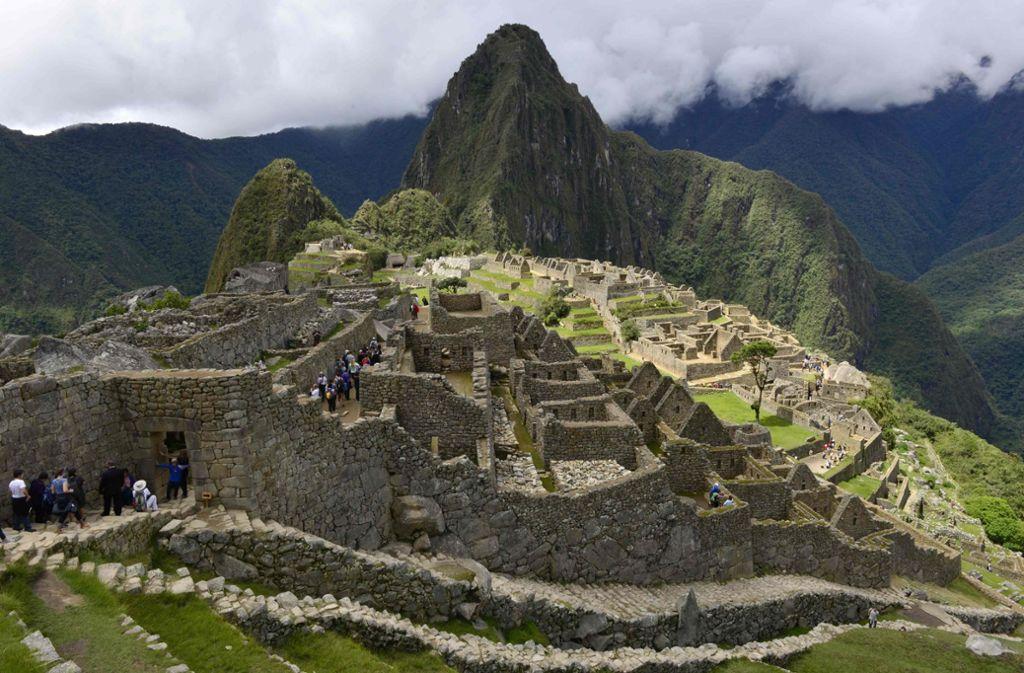 Die Ruinenstätte Machu Picchu gehört zu den wichtigsten Touristenattraktion Südamerikas . Foto: AFP/CRIS BOURONCLE