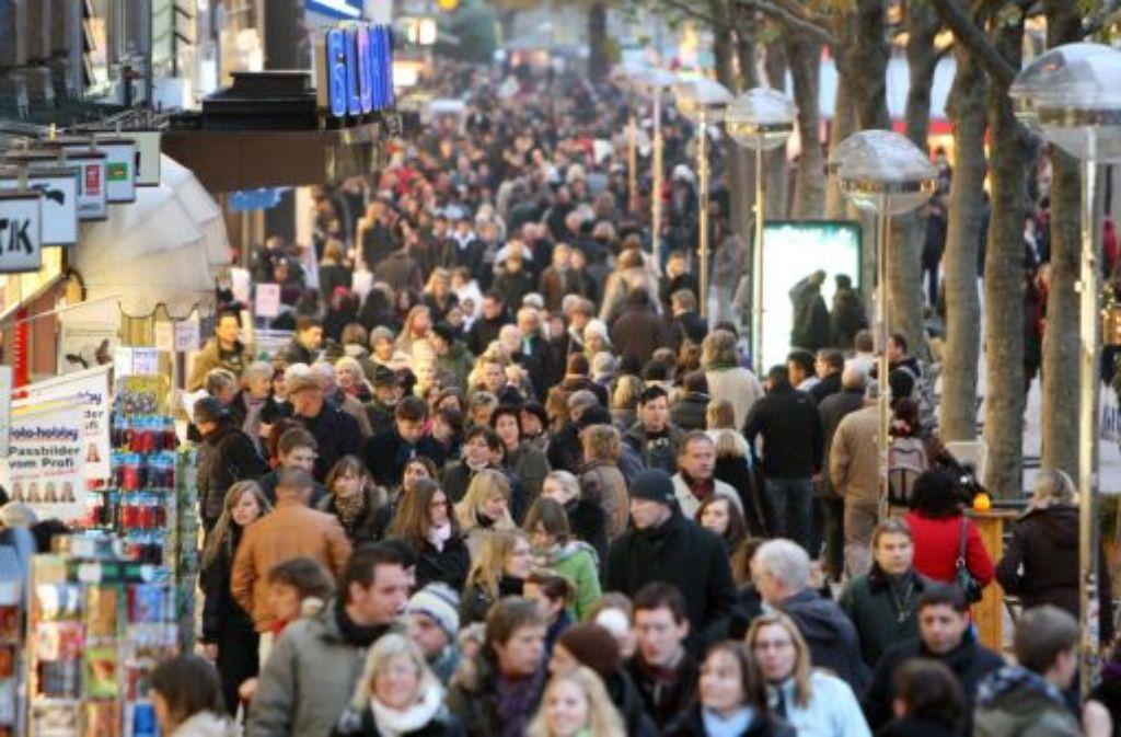 Wegen des Kirchentags rechnet man in Stuttgart mit hohen Einnahmen im Einzelhandel. Foto: dpa