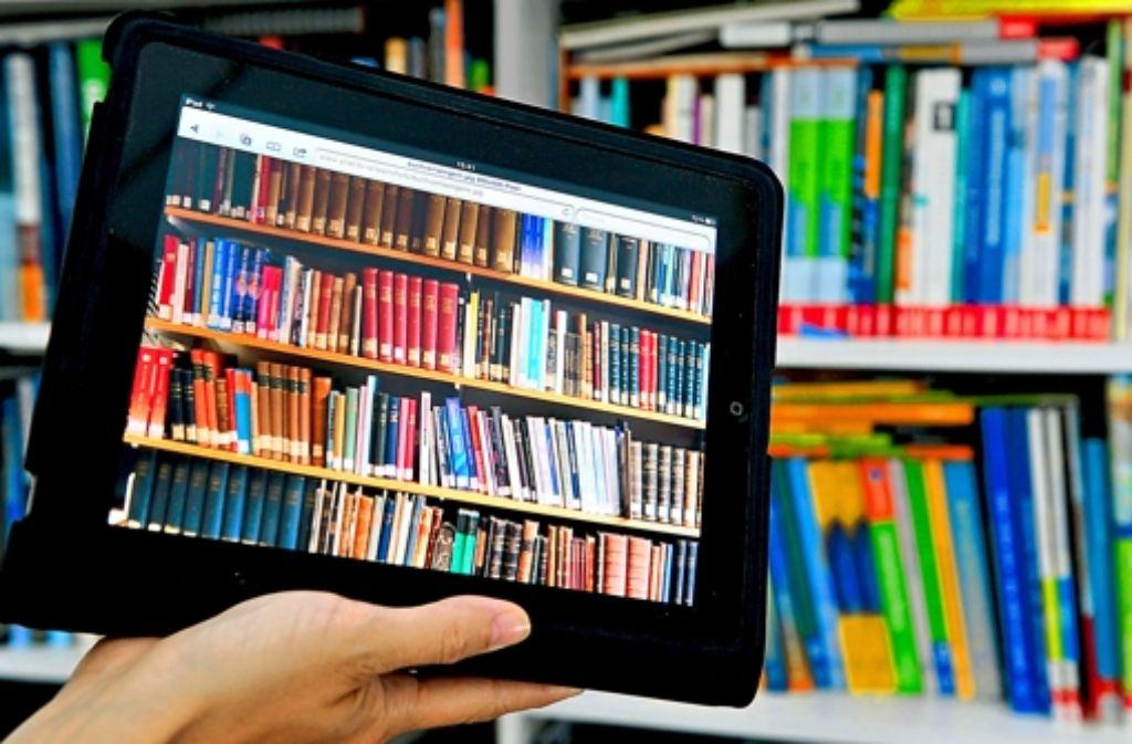 Die virtuelle Bibliothek ist Gegenwart. Foto: dpa