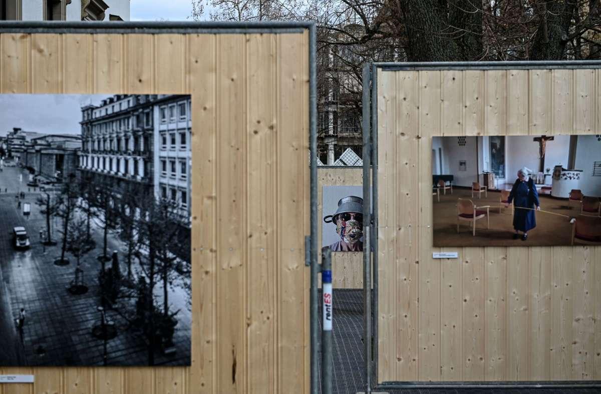 Die Ausstellung steht seit dem 10. März im Museumsgarten des Stadtpalais Stuttgart. Foto: Lichtgut/Leif Piechowski