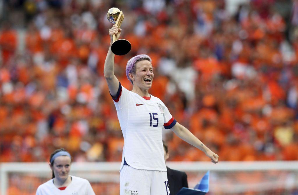 Megan Rapinoe gehört zu den Stars der US-Nationalmannschaft. Foto: AP